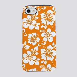 Orange Hawaiian Hibiscus iPhone 8/7 Tough Case